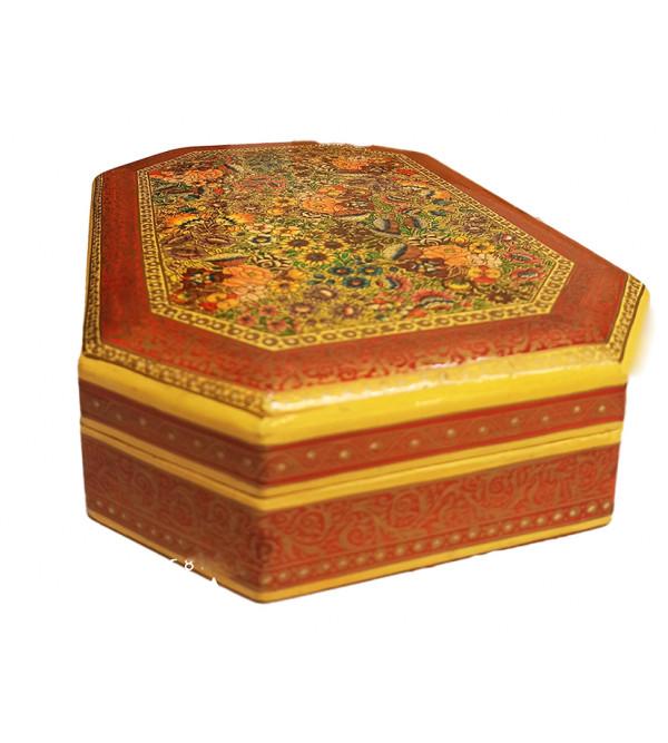 Hand crafted Octagonal Papier Mache Flat Box