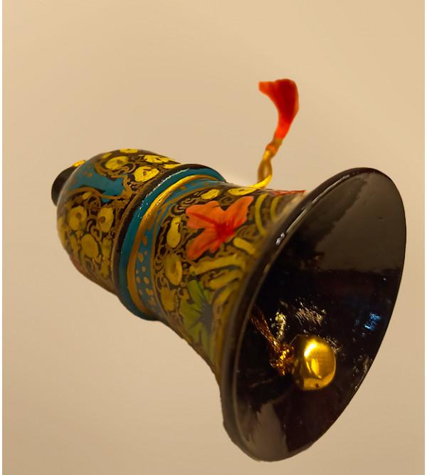 Christmas hanging Bell in papier Mache