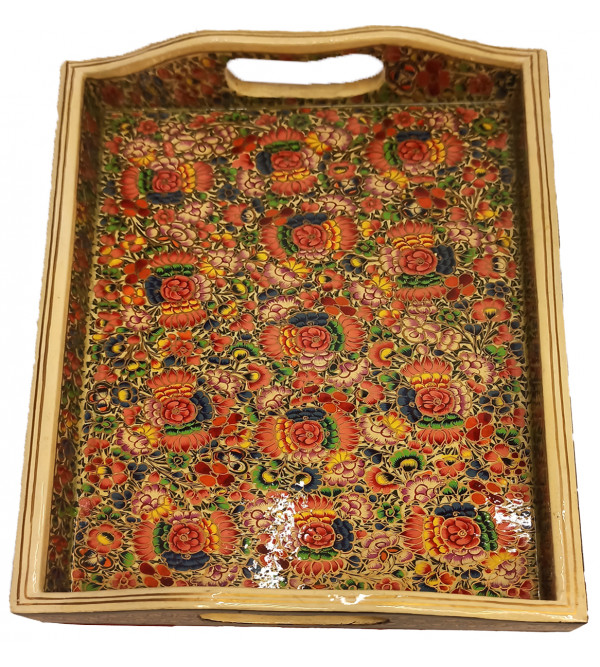 TRAY WITH HANDLE 12X8  INCH
