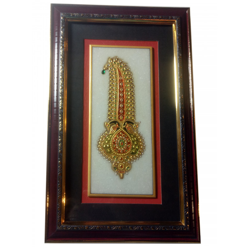 Jewellery Painting Handcrafted With Pure Gold Leaf Work