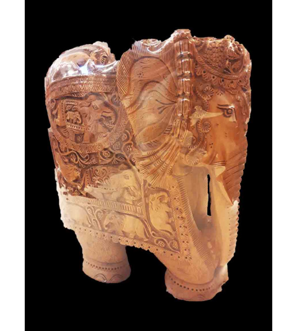 ELEPHANT CARVED SANDALWOOD 10 INCHES