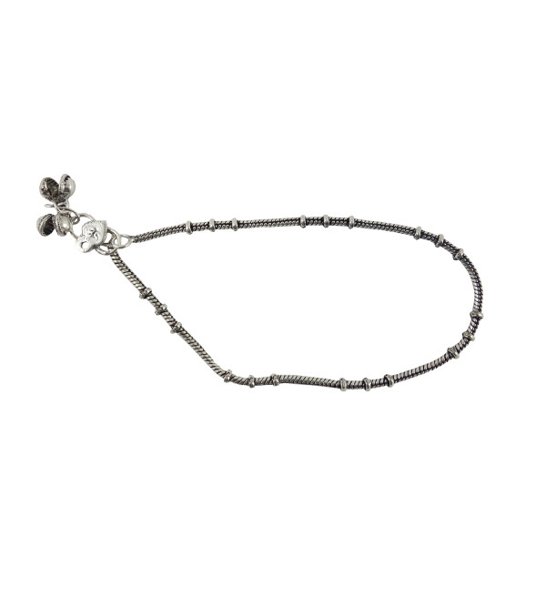 HANDICRAFT WHITE METAL ANKLET