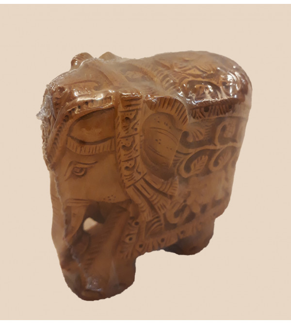 ELEPHANT CARVED SANDALWOOD 3 INCH