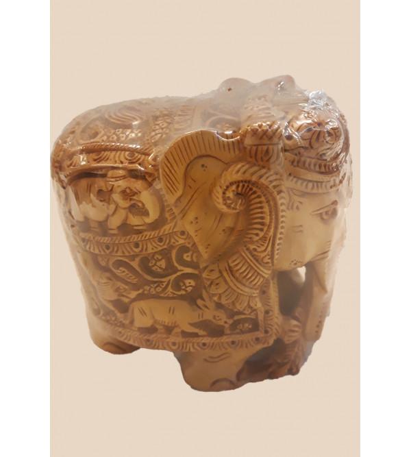 Sandalwood Handcrafted Carved Elephant
