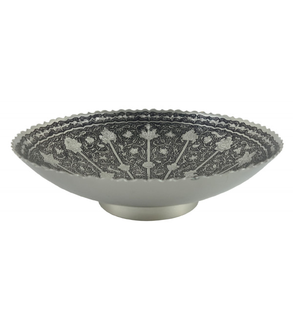 HANDICRAFT KANGURA NICKEL PLATED BOWL 7.5 INCH
