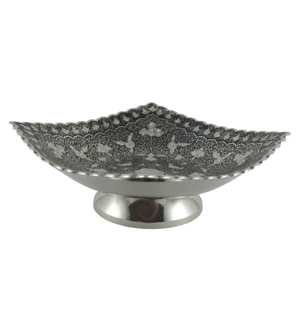 HANDICRAFT NICKEL PLATED BOWL 5.5 INCH