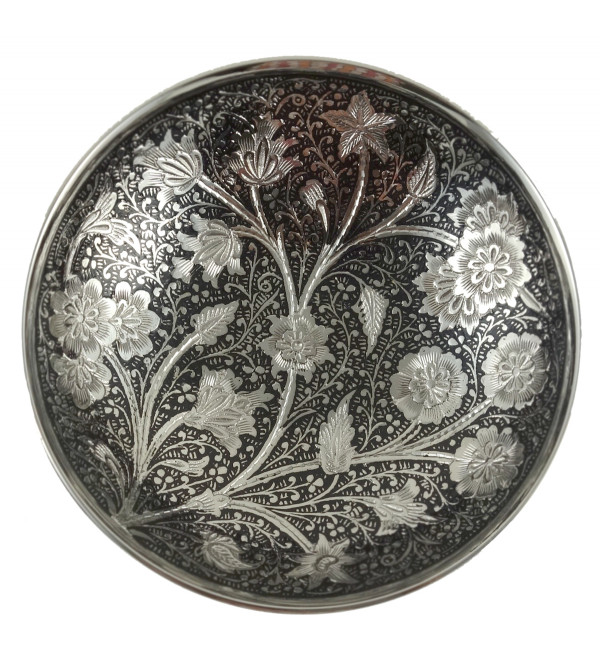 HANDICRAFT NICKEL PLATED BOWL SET 4.5 INCH