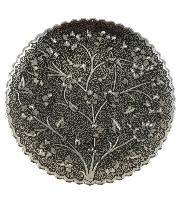 HANDICRAFT KANGURA NICKEL PLATED PLATE 8 INCH
