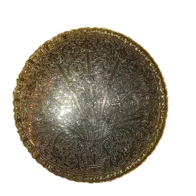 Brass Gold Plated Bowl 7 Inch