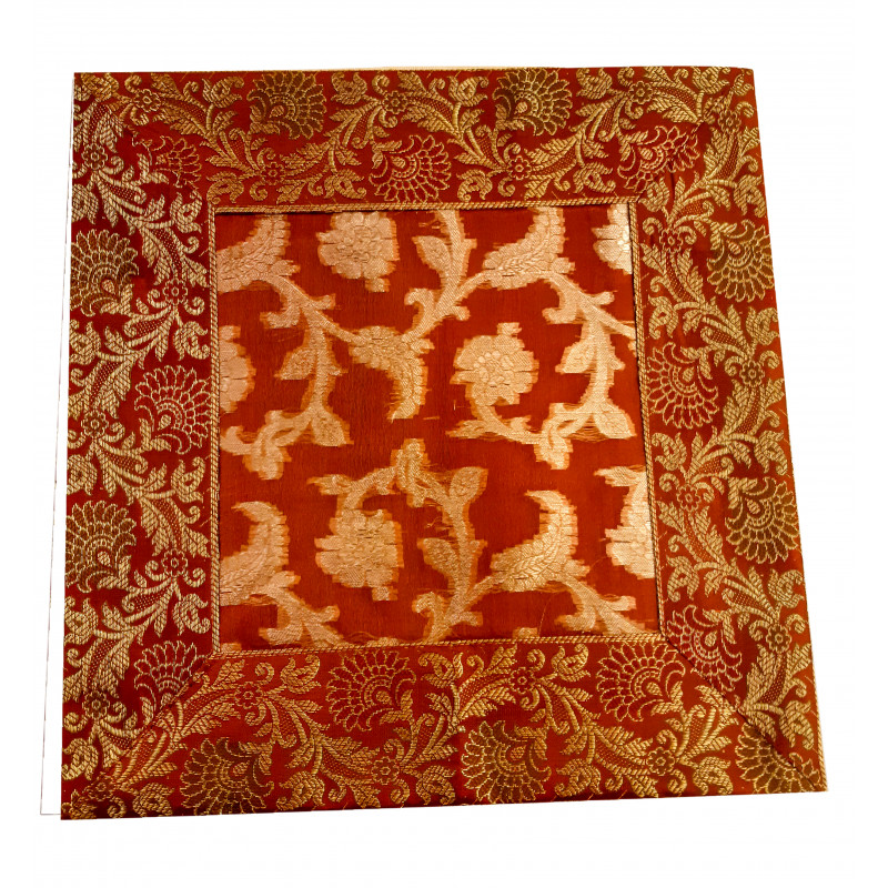Organza Handwoven Silk Cushion Cover Size 12x12 Inch
