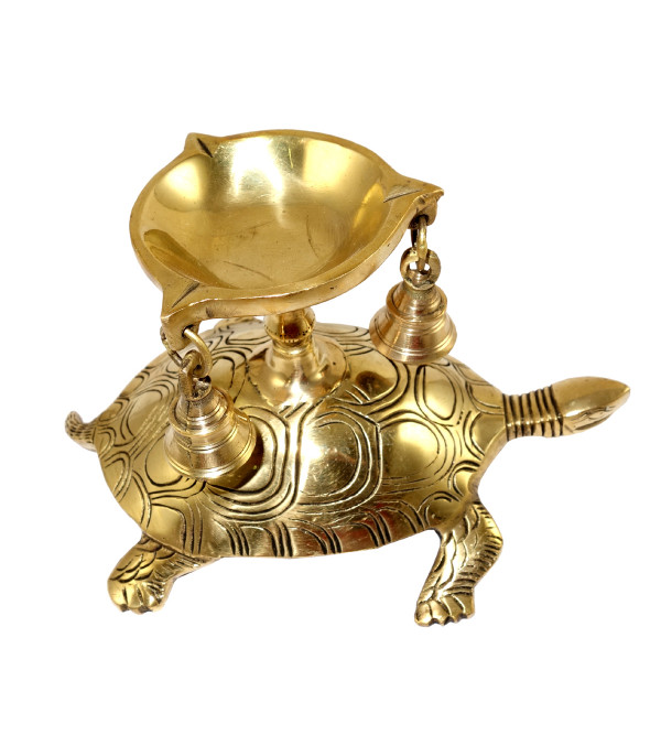 HANDICRAFT BRASS  TORTOISE DIYA