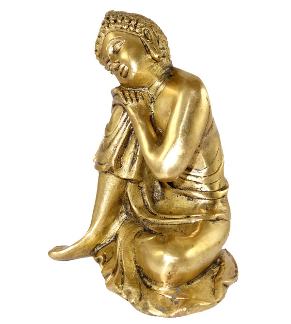 HANDICRAFT BRASS BUDDHA SITTING 6 INCH