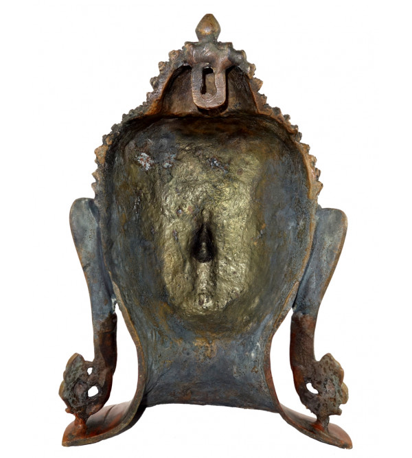 HANDICRAFT BRASS BUDDHA HEAD 11 INCH
