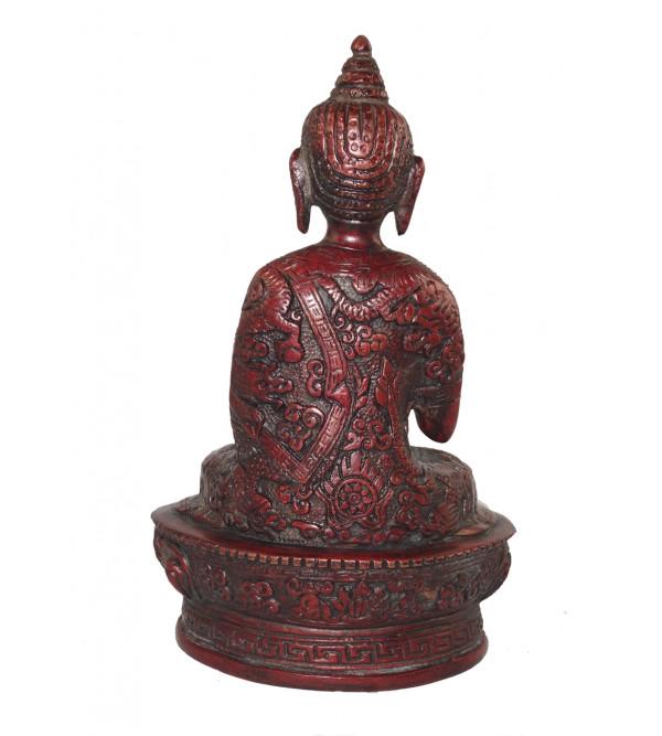 HANDICRAFT BRASS BUDDHA SITTING 7 INCH