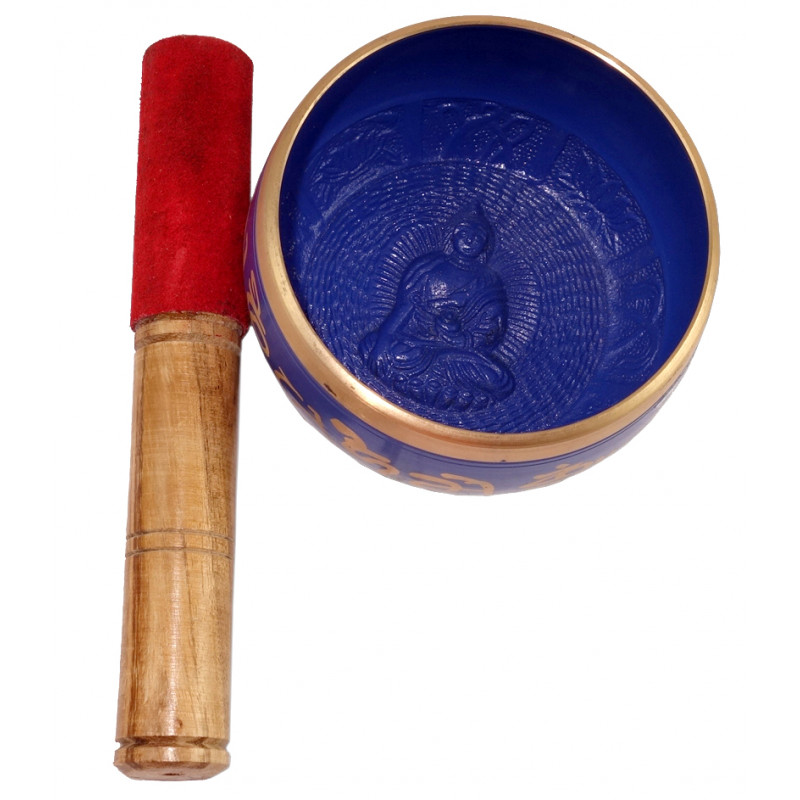 HANDICRAFT SINGING BOWL WITH WOOD STICK 4 INCH