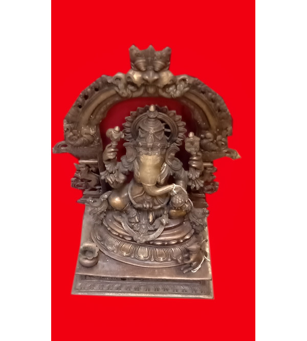 Ganesha Handcrafted In Brass Size 27 Inches
