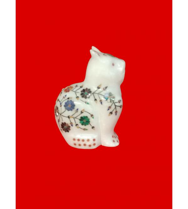 Alabaster RABBIT With Semi Precious Stone Inlay Size 3.5 inch