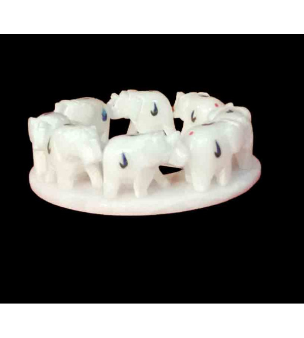 MARBLE INALY 3 ELEPHANT RING 4 INCH