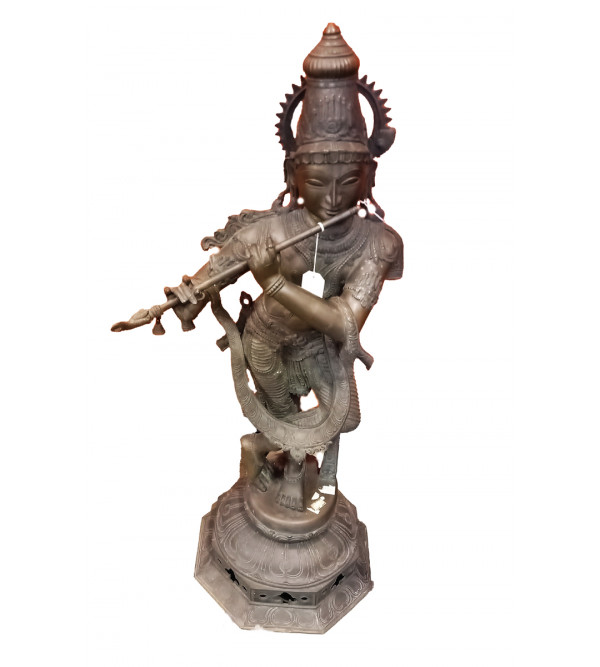 Krishna Handcrafted In Bronze Size 36 Inches