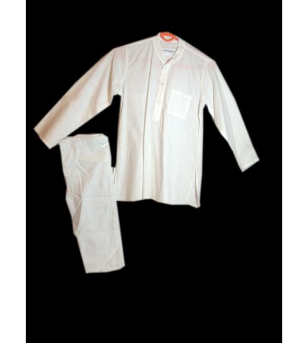 Cotton Plain White Kurta Pajama Set For Boys Size 4 to 6 Year