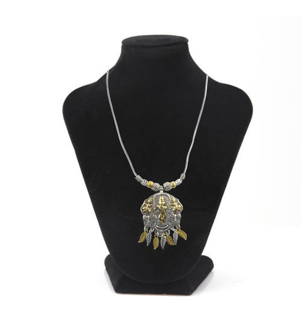 HANDICRAFT NECKLACE WHITE METAL