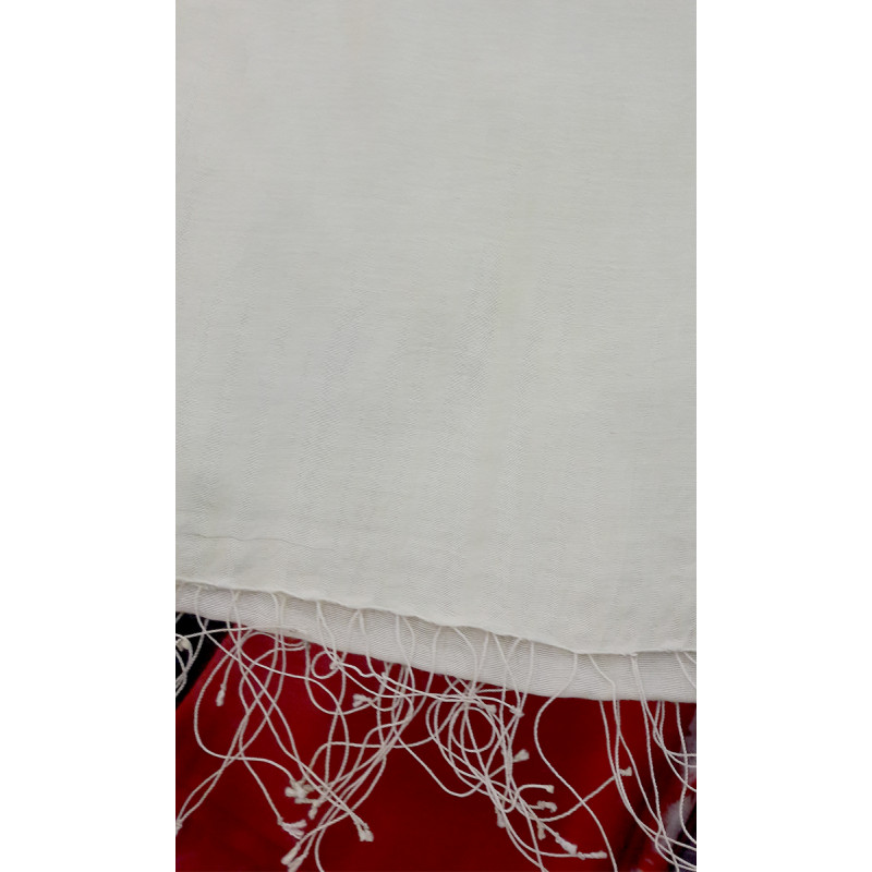 Ruffle Woolen Embroidered Shawls Size,40x80inch