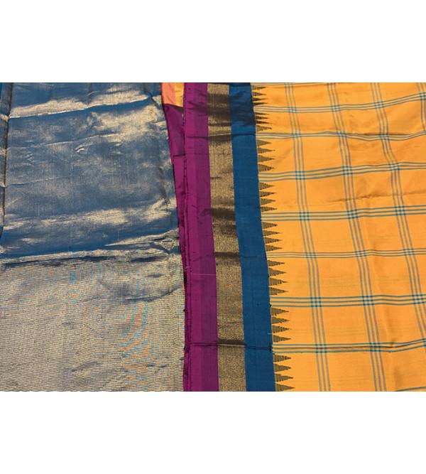 Gadwal Silk Handloom Zari Saree with Blouse