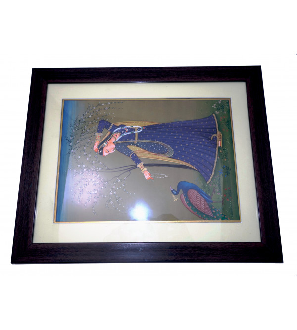 Ragini painting on marble framed