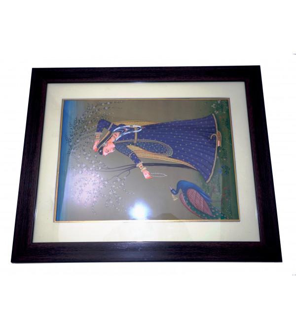 Ragini painting on marble framed