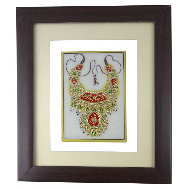 JEWELLERY PAINTING FRAMED 4x4 Inch glass framed