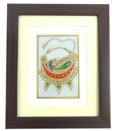 JEWELLERY PAINTING FRAMED 4x4 Inch