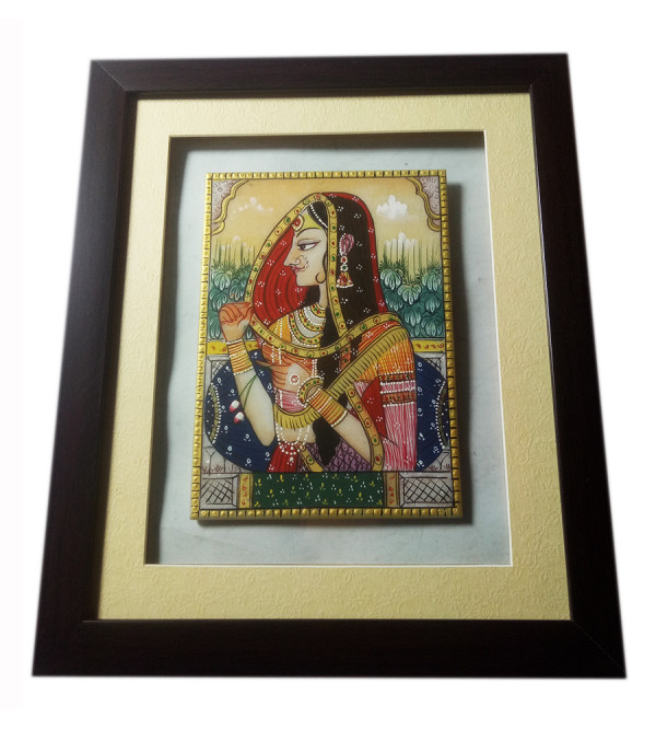 7X5 INCH BANI THANI PAINTING ON MARBLE Assorted design