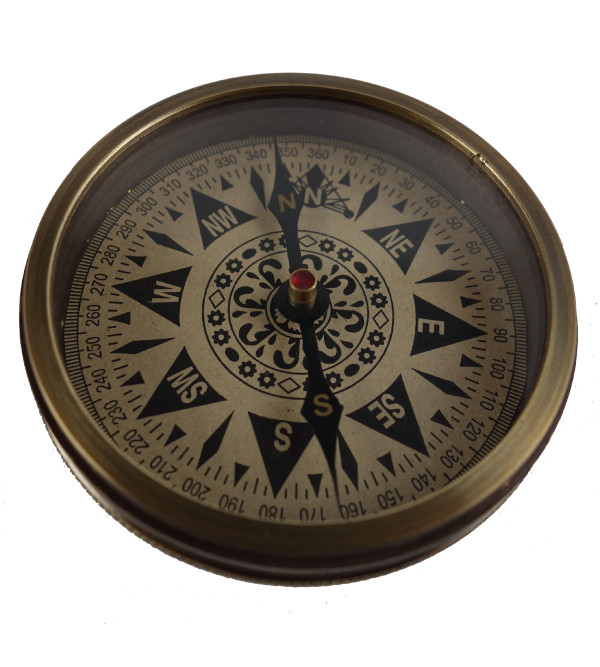 SAND TIMER COMPASS 3 Inch with brass frame