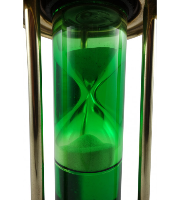 HANDICRAFT SAND TIMER PIPE ASSORTED COLOR LIQUID WITH BRASS FINISHING 7 INCH