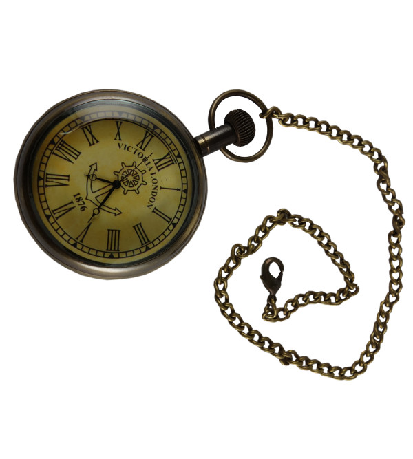 HANDICRAFT POCKET WATCH WITH SMALL CHAIN