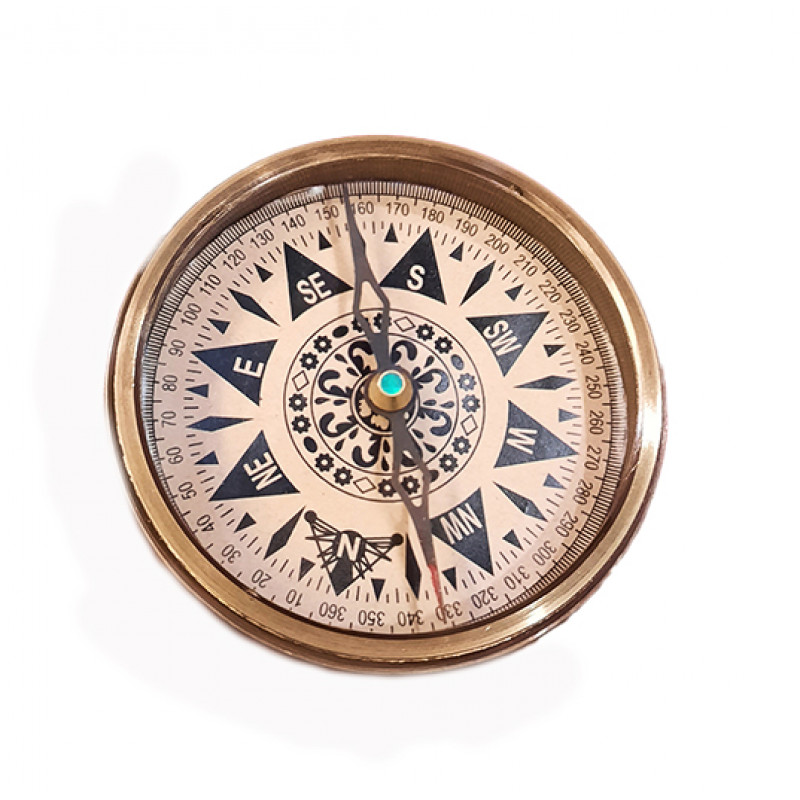 Sand Timer Compass Handcrafted In Brass