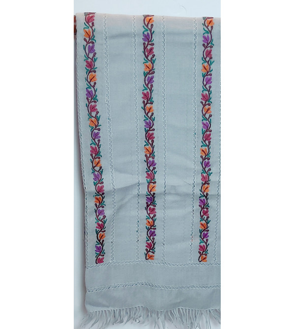 Stole Raffle Ari Jal Hand Embroidery 28 X80 Inch