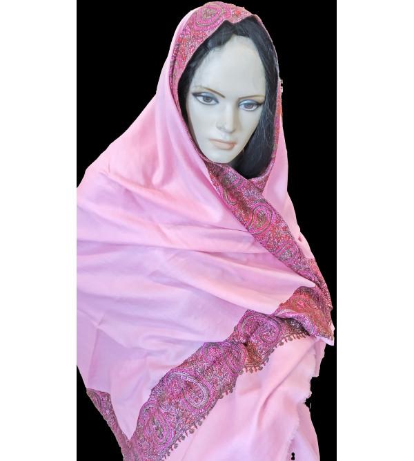 Woollen Shawl Hand Embroidered in Kashmir Size,40X80 Inch