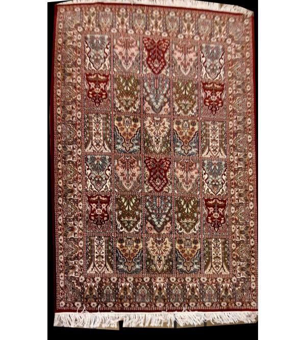 Jaipur  Woolen Hand Knotted carpet Size 7.1 ft x5.1 ft