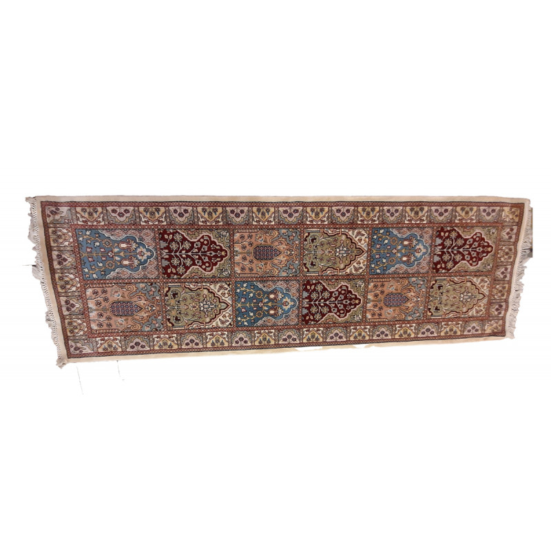 Jaipur  Woolen Hand Knotted carpet Size 2.1 ft x2.8 ft