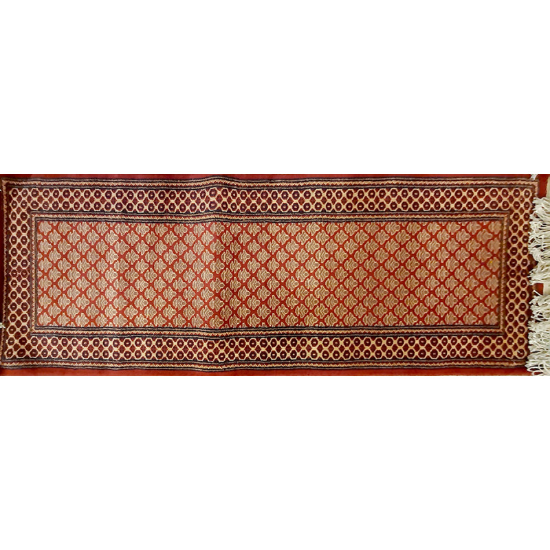 Jaipur  Woolen Hand Knotted carpet Size 2 ft x6.2 ft