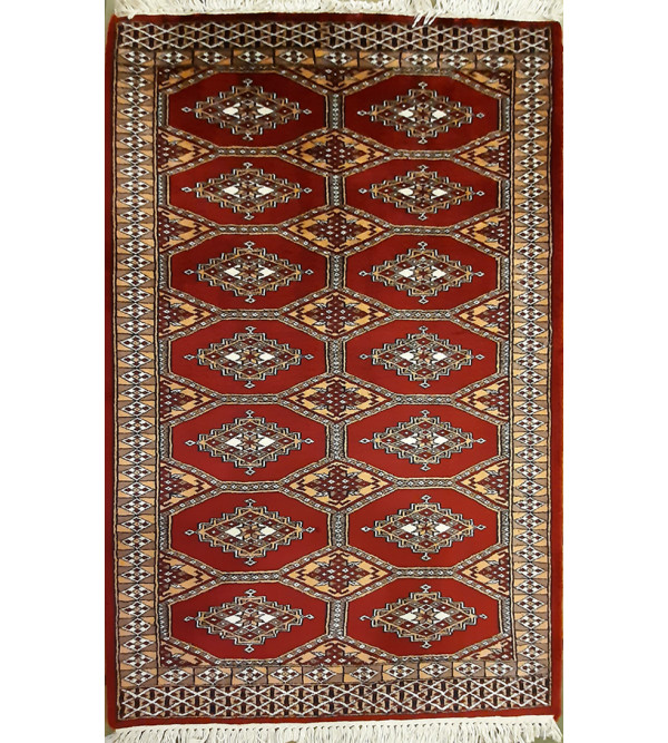 Bhadohi  Woolen Hand Knotted carpet Size 3 ft. x5 ft.