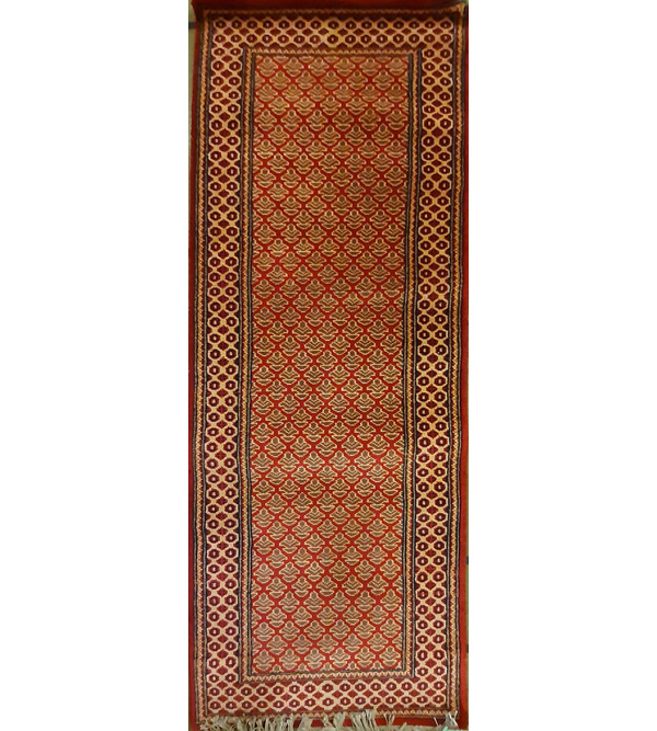 Jaipur  Woolen Hand Knotted carpet Size 2ft x6 ft