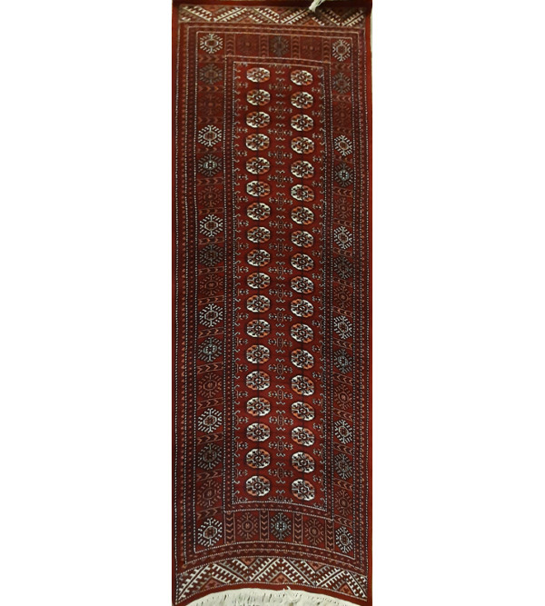 Jaipur  Woolen Hand Knotted carpet Size 2.5 ft x8 ft