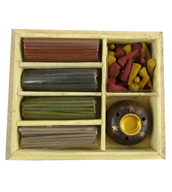 Handicraft Aggarbattis Soothing Scents gift box wooden assorted stick
