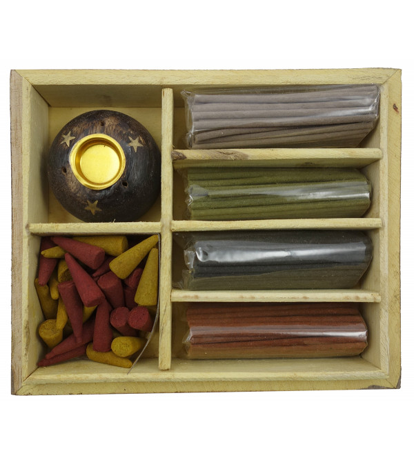 Handicraft Aggarbattis Soothing Scents gift box wooden Assorted Sticks