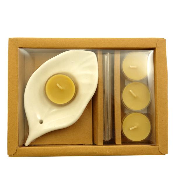 Handicraft Gift Set Tealight  Bamboo Less Stick Set of 4 Pcs Assorteed Fragrance