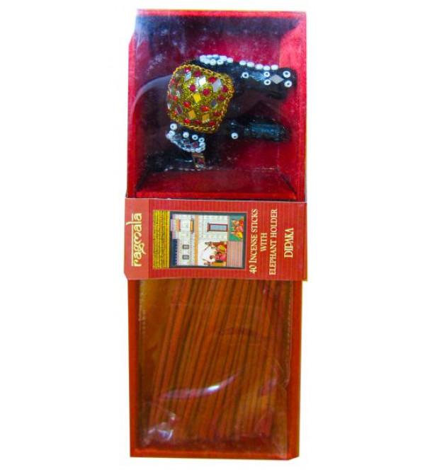 Aggarbati with Elephant Stand Ragmala Elephant Holder 40 Sticks