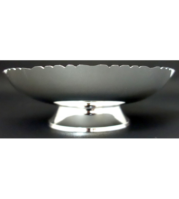 HANDICRAFT BOWL BRASS SILVER PLATED