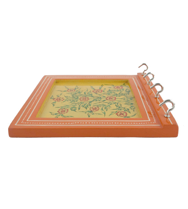 PAINTED KEY HOLDER JAIPUR STYLE 6x6 INCH